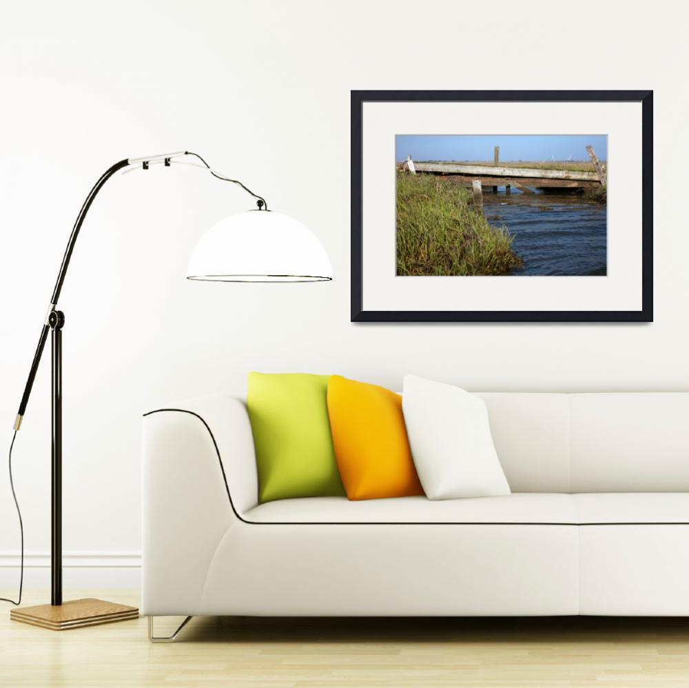 """Wooden and Wantagh Bridges&quot  (2012) by Peter-A-Kopher"