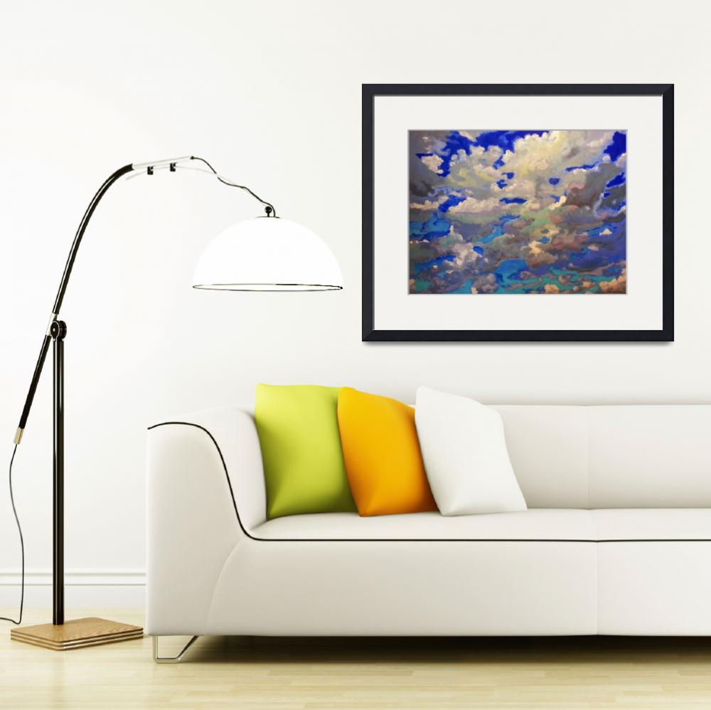 """""""Windy skyscape painting picture&quot  (2013) by RDRiccoboni"""