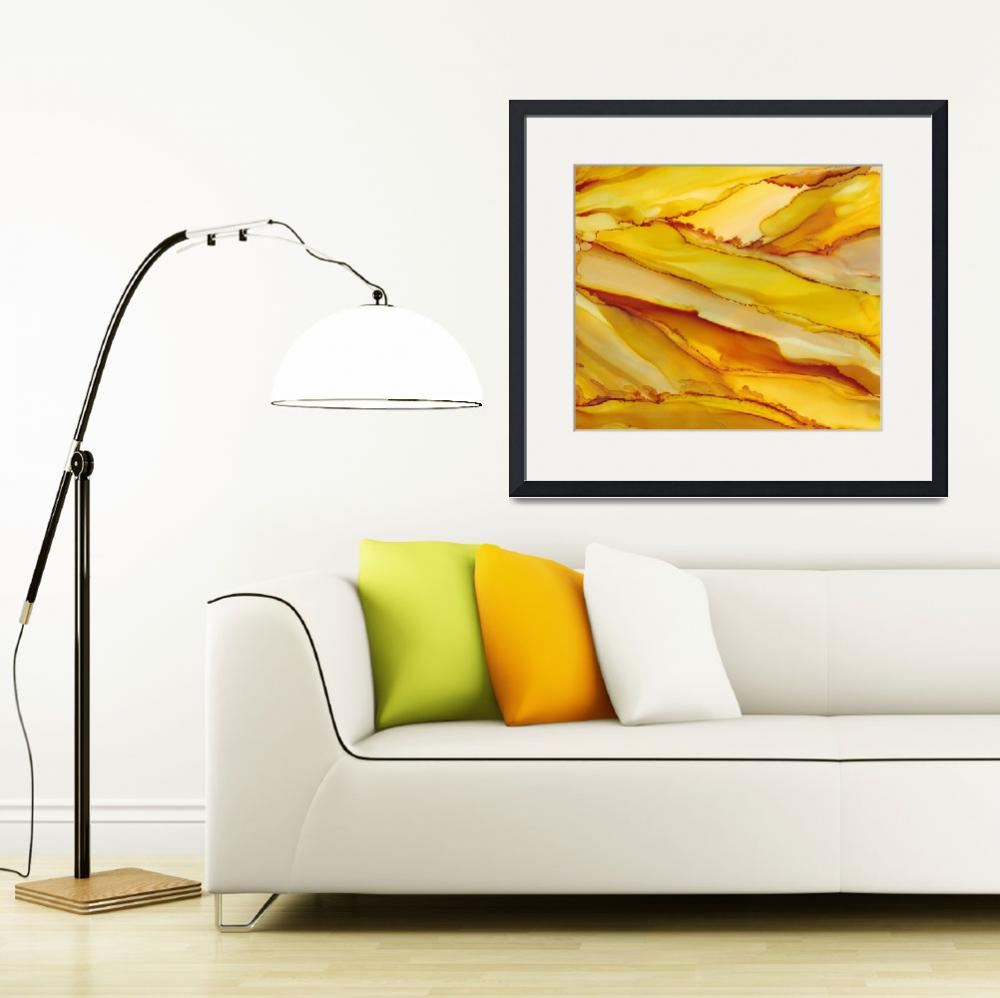 """""""Yellow Rivers&quot  (2014) by ILoveAlcoholInk"""