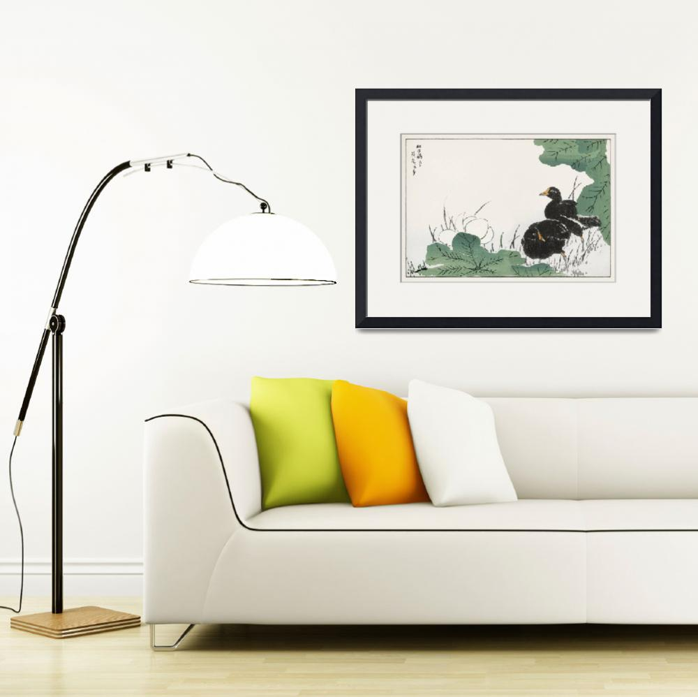 """""""Coot and Lotus by Numata Kashu""""  by FineArtClassics"""