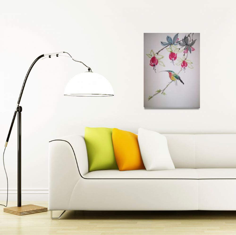 """""""Hummingbird""""  (2009) by leogordonartgallery"""