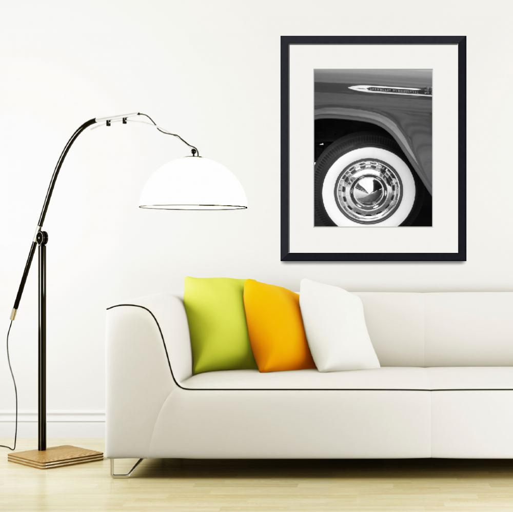 """""""50s Chevy Truck White Wall&quot  (2011) by PurpleSkyPhoto"""
