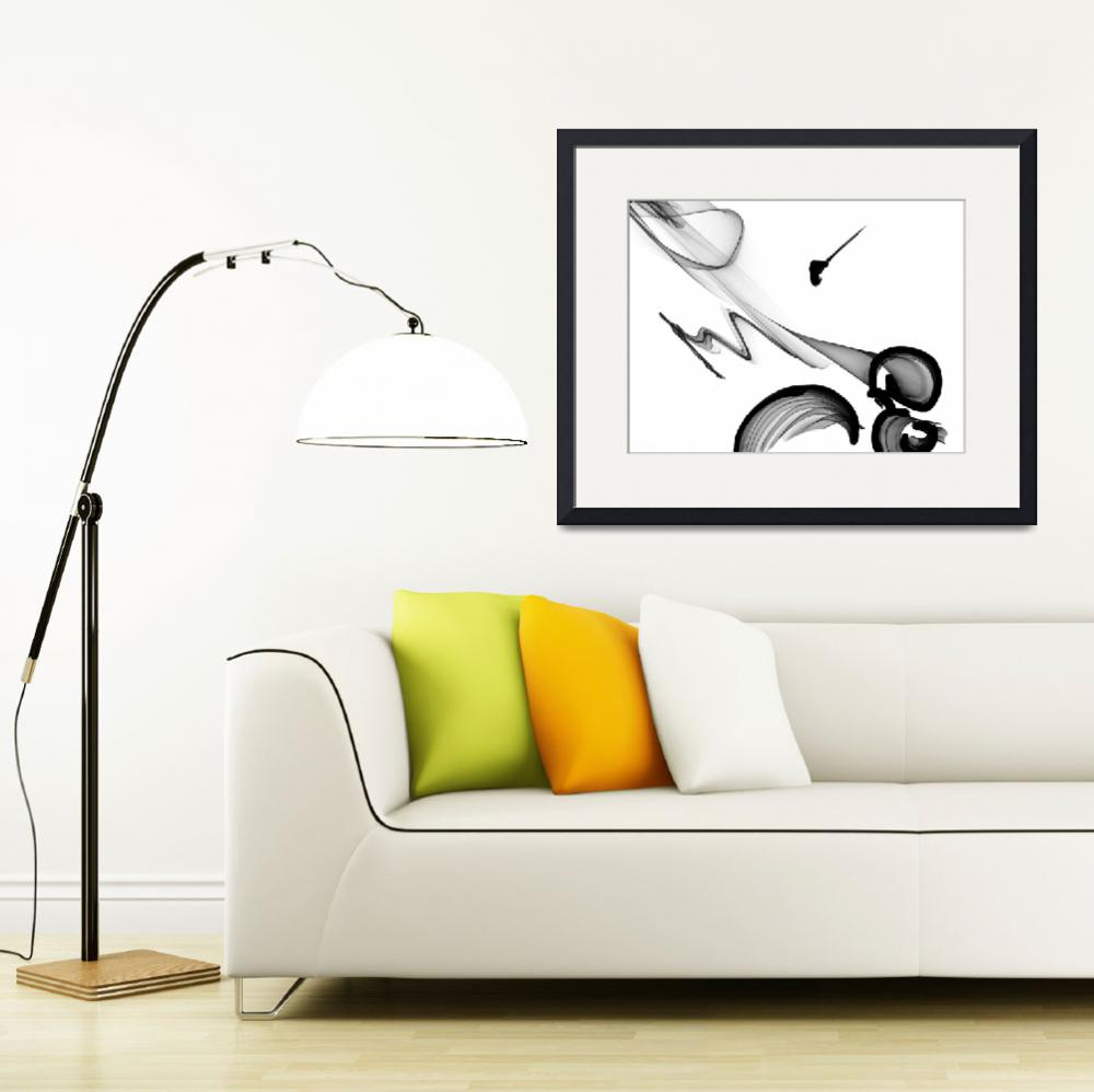 """ORL-5987 Abstract Art Black And White&quot  by Aneri"