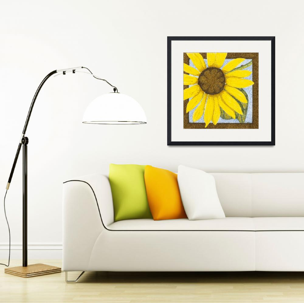 """""""Wee Sunflower""""  (2009) by ArtbyJudyNewcomb"""