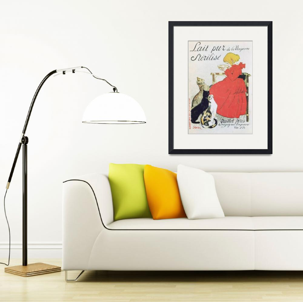 """Vintage French Poster advertising Milk&quot  by fineartmasters"