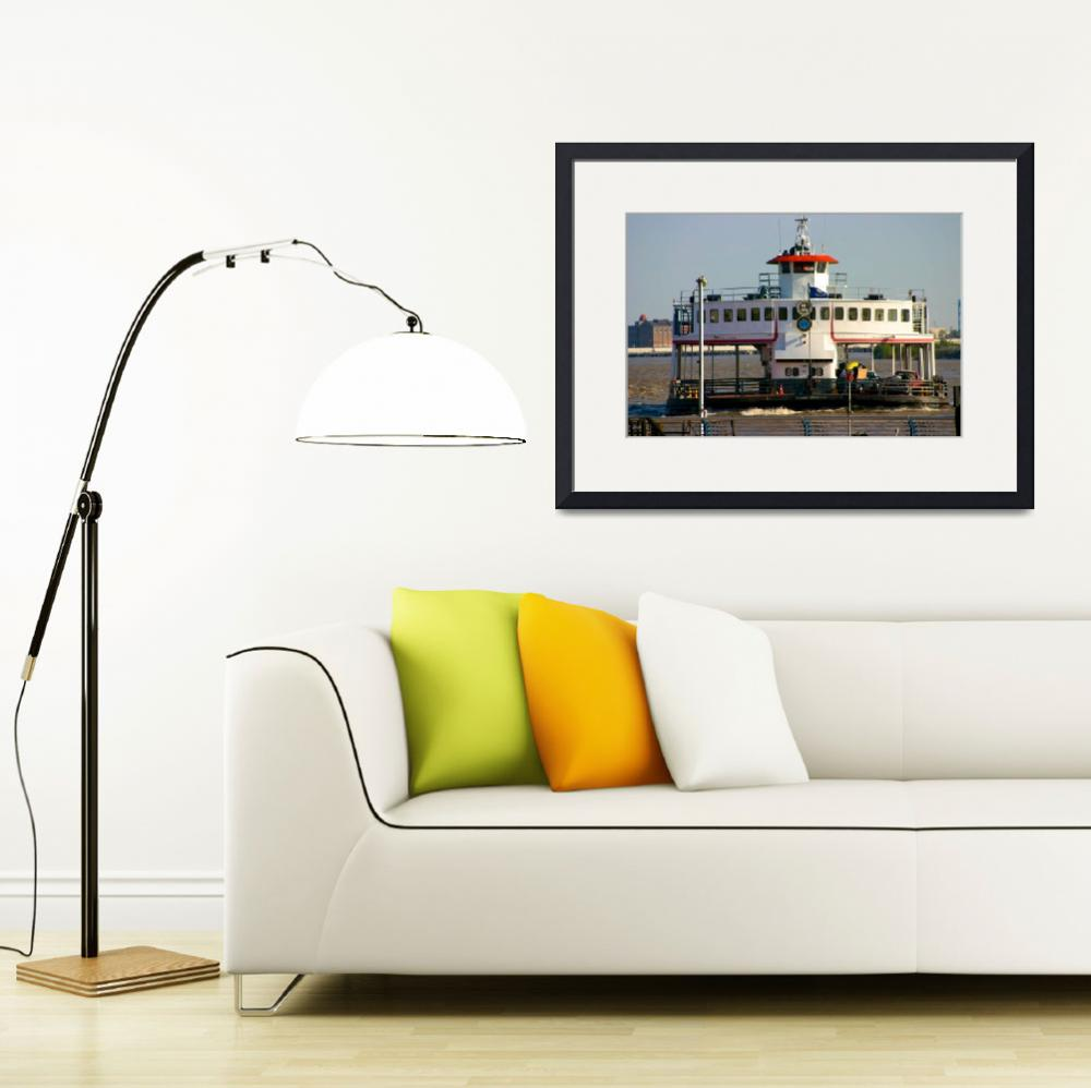 """""""Mississippi Ferry&quot  (2004) by NjordPhotography"""