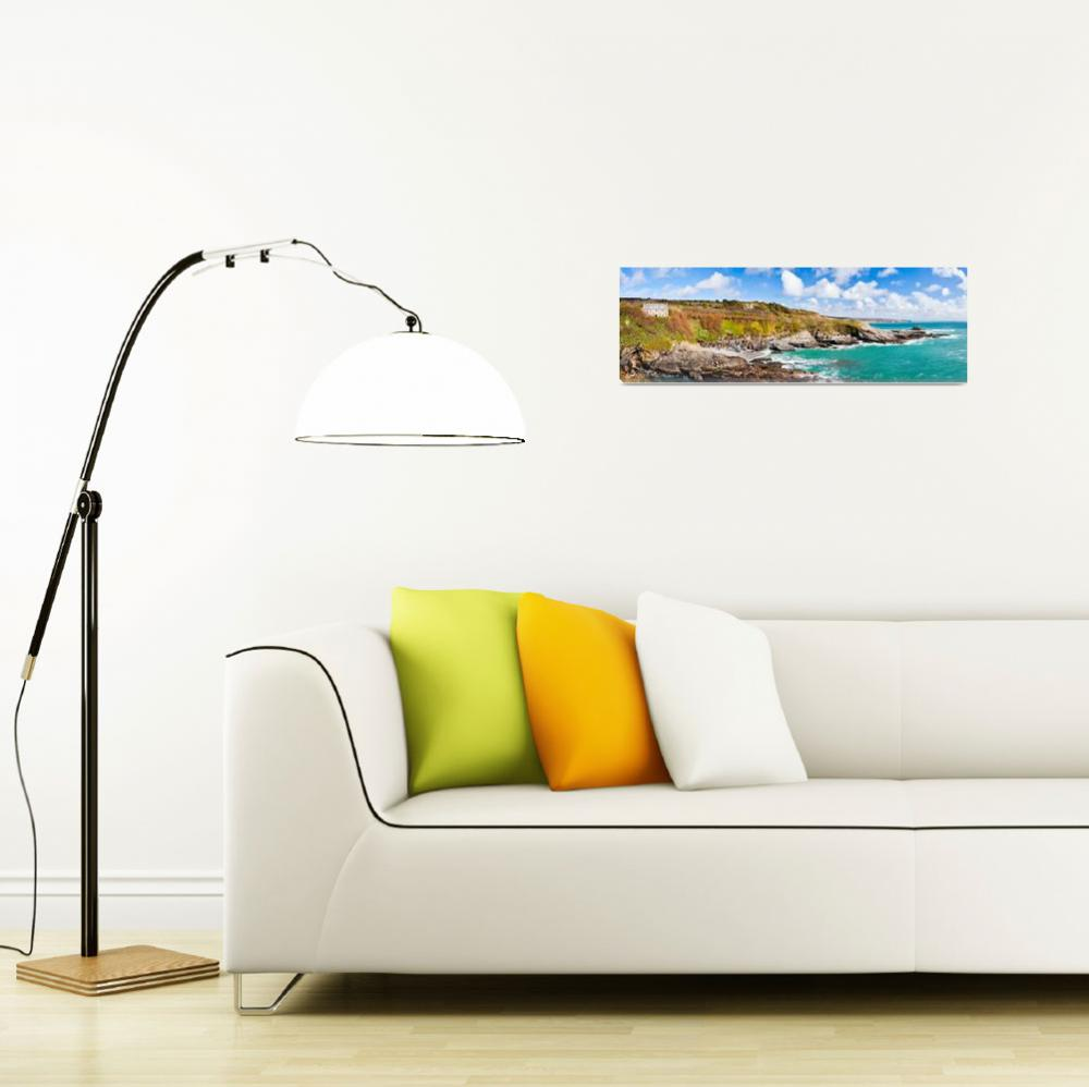 """""""Prussia Cove Panoramic&quot  (2011) by ianwoolcock"""