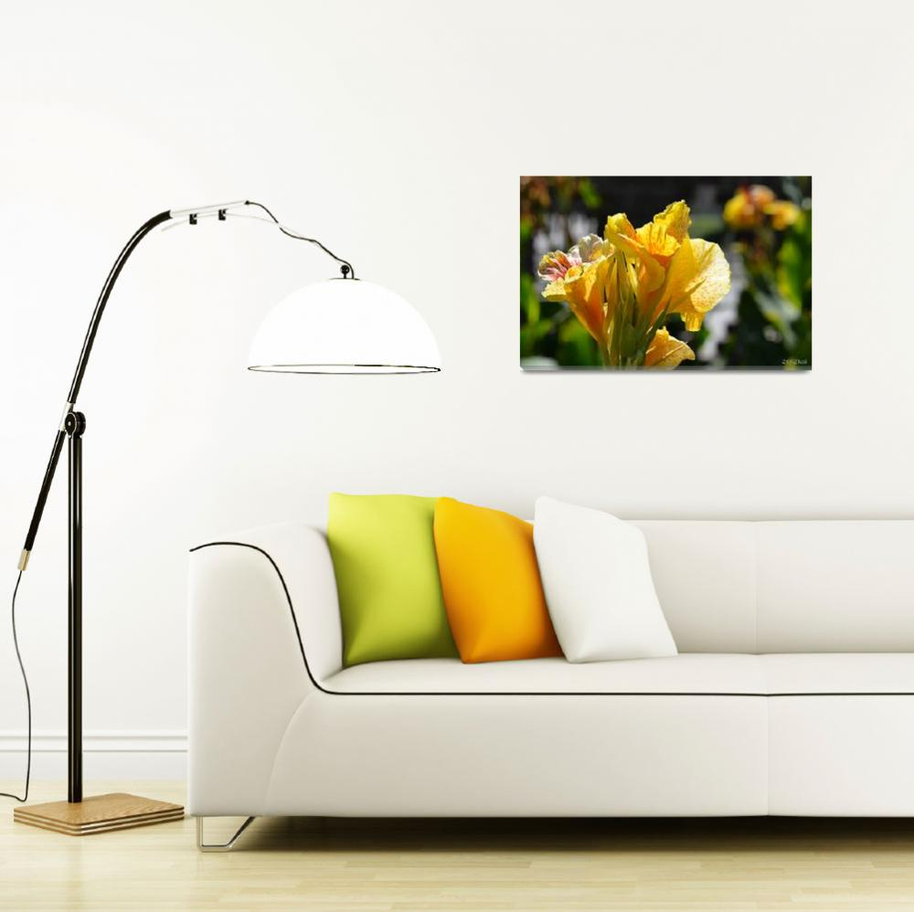 """""""Yellow Gladiolas in the Sunlight&quot  (2012) by theblueplanet"""