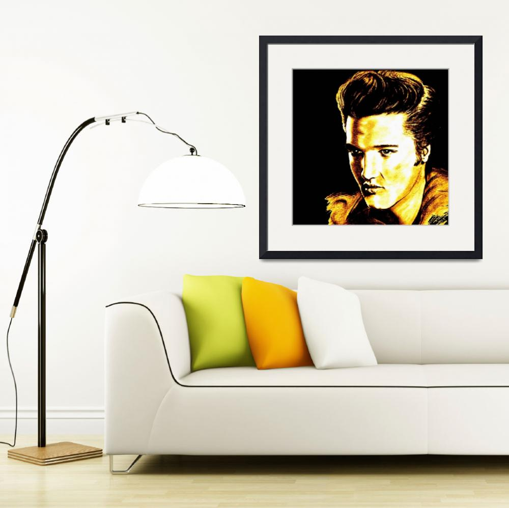 """""""Elvis In Gold And Black""""  by GittaG74"""
