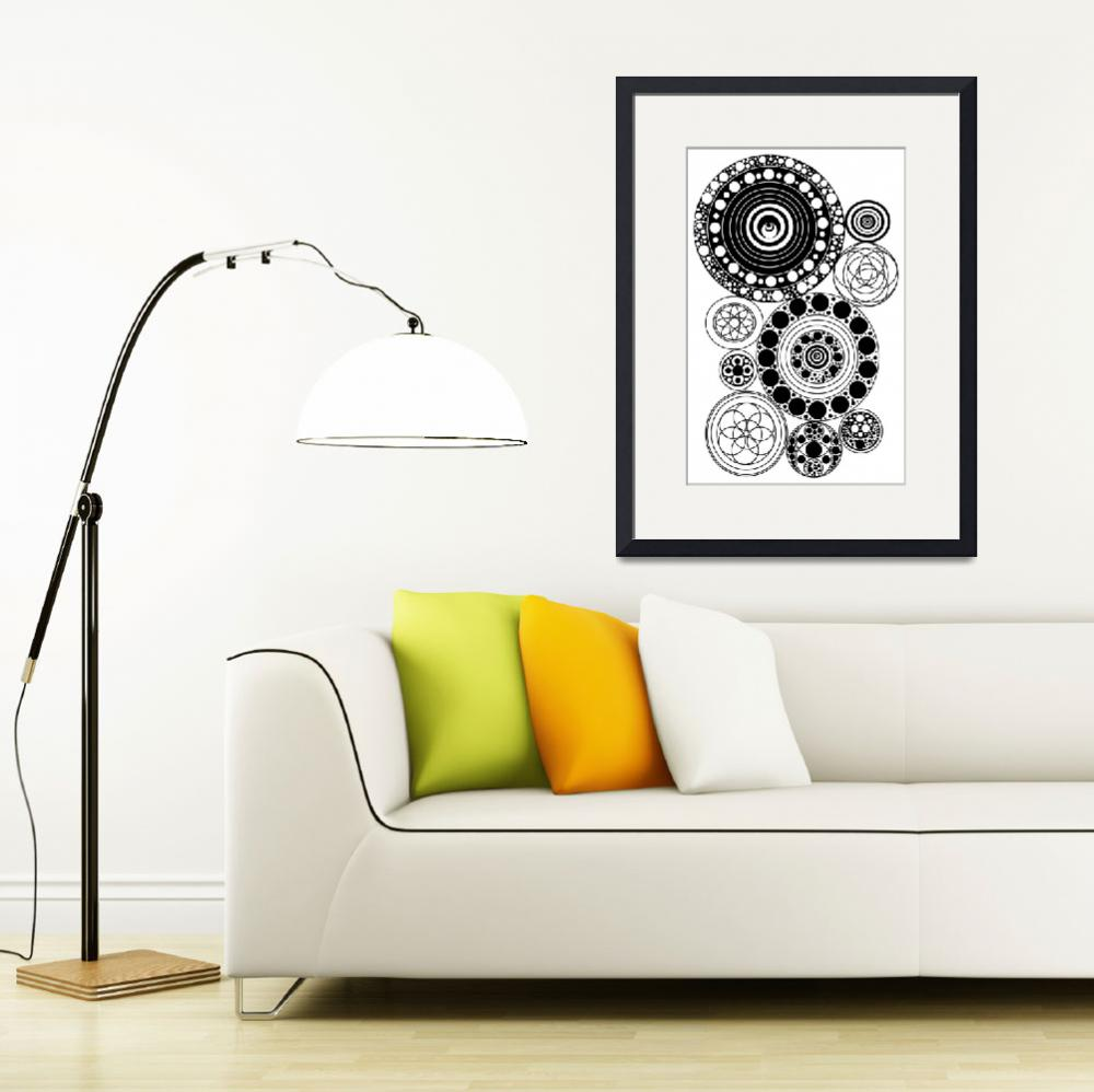 """""""Zentangle Circles Design&quot  (2016) by AliciaCounter"""