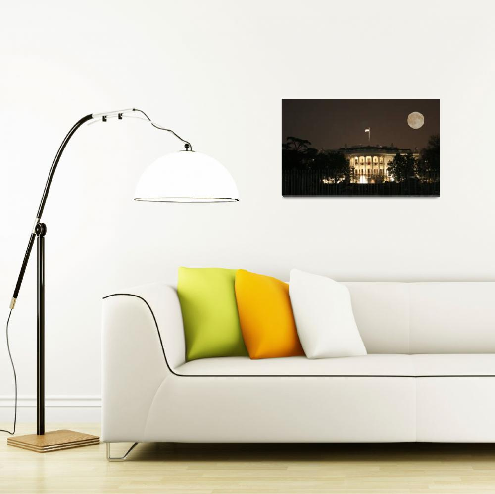 """white house moon night washington dc""  (2006) by dcphoto"