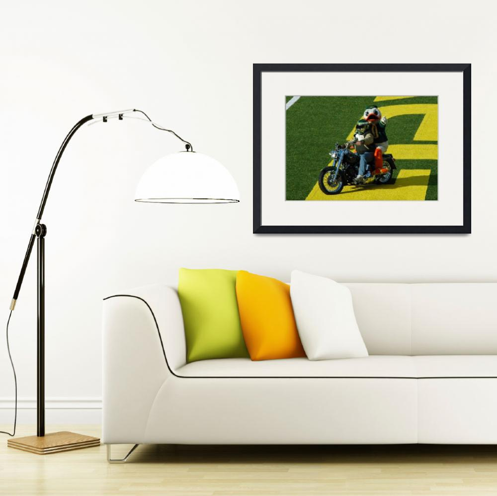 """""""Oregon Duck on Harley&quot  (2010) by netbrands"""