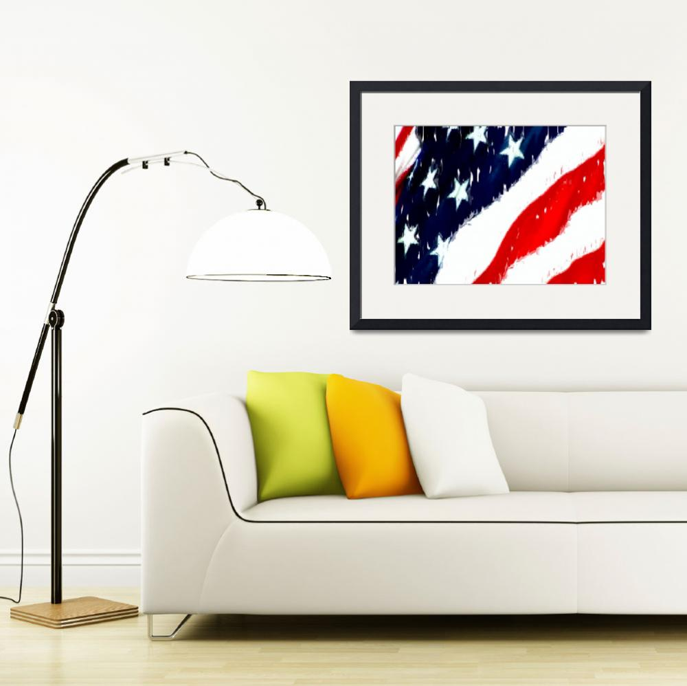 """Untitled Flag&quot  (2010) by leapdaybride"