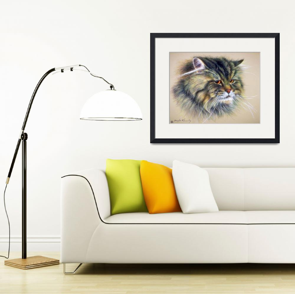 """Tabby Long-Hair Pet Cat&quot  by ArtLoversOnline"