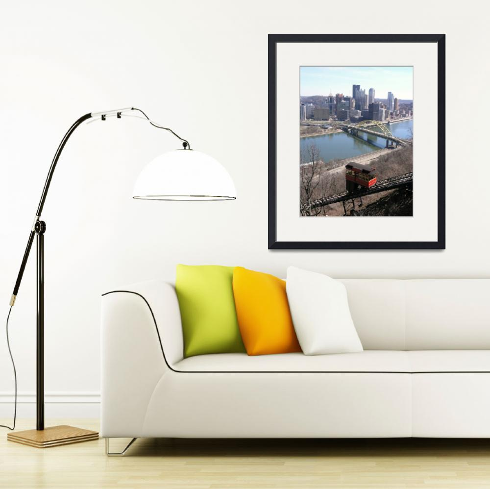 """""""Duquesne Incline and the city of Pittsburgh&quot  (2010) by milphog"""