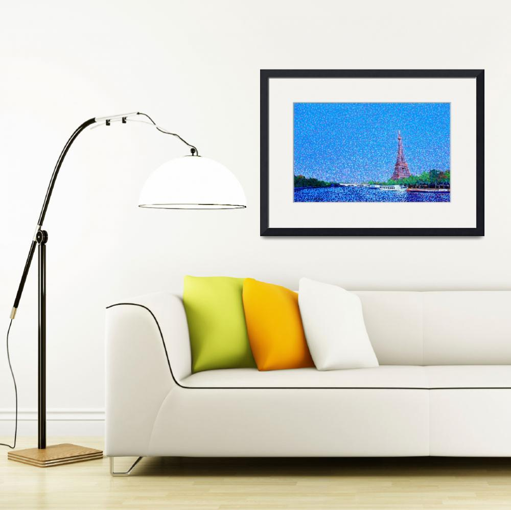 """""""Eiffel Tower and the Seine River Landscape""""  (2012) by 1004art"""