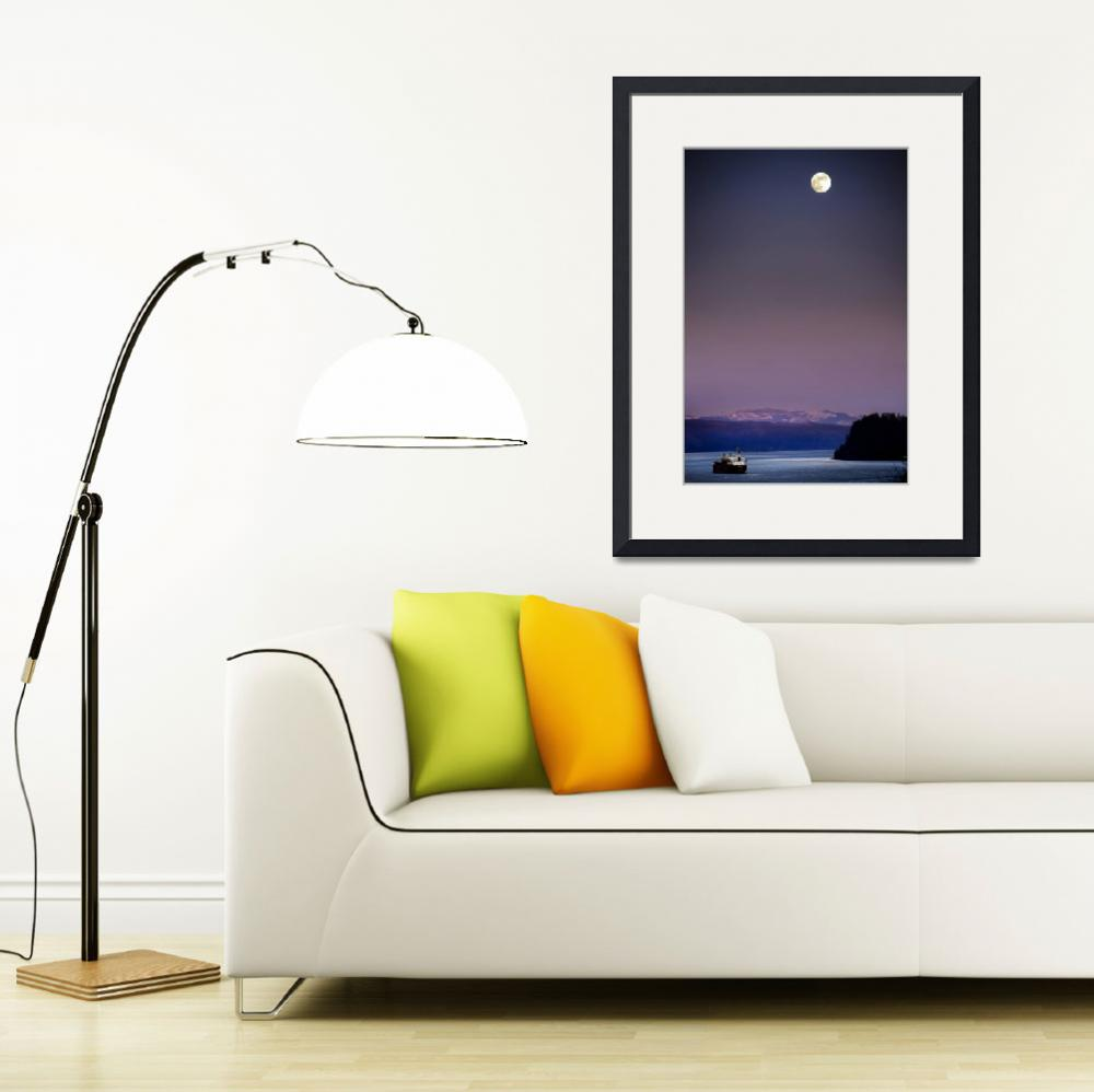 """""""moonrise on the columbia&quot  (2007) by jody9"""