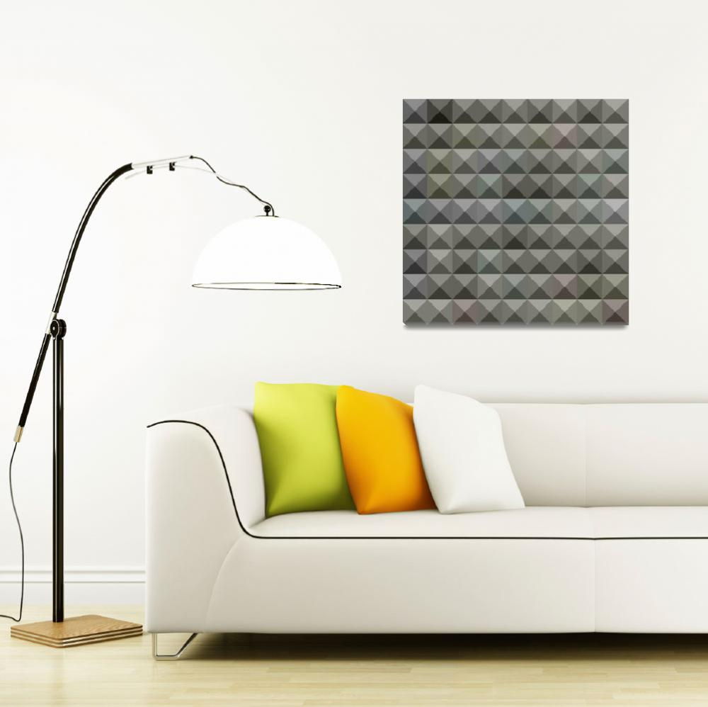 """""""Argent Grey Abstract Low Polygon Background""""  (2015) by patrimonio"""