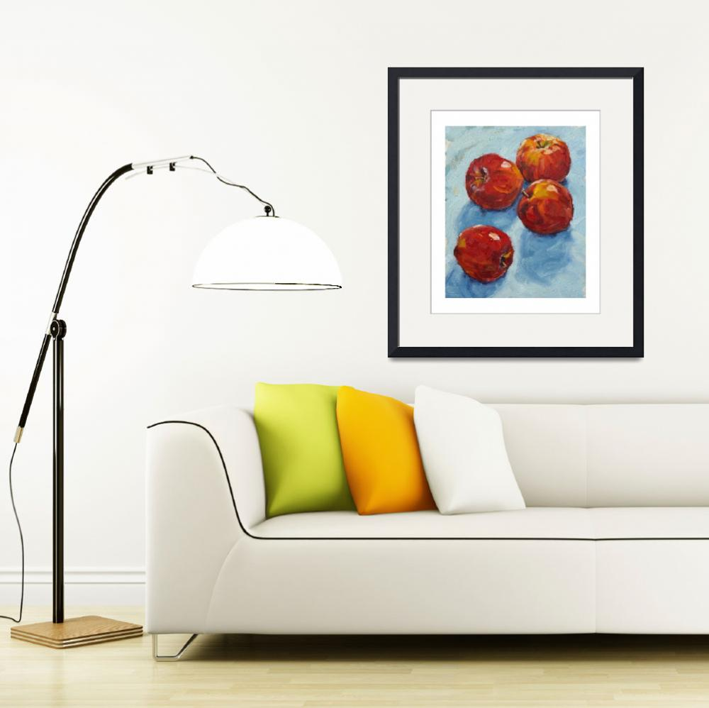 """""""Apples on blue&quot  (2008) by davidwesterfield"""