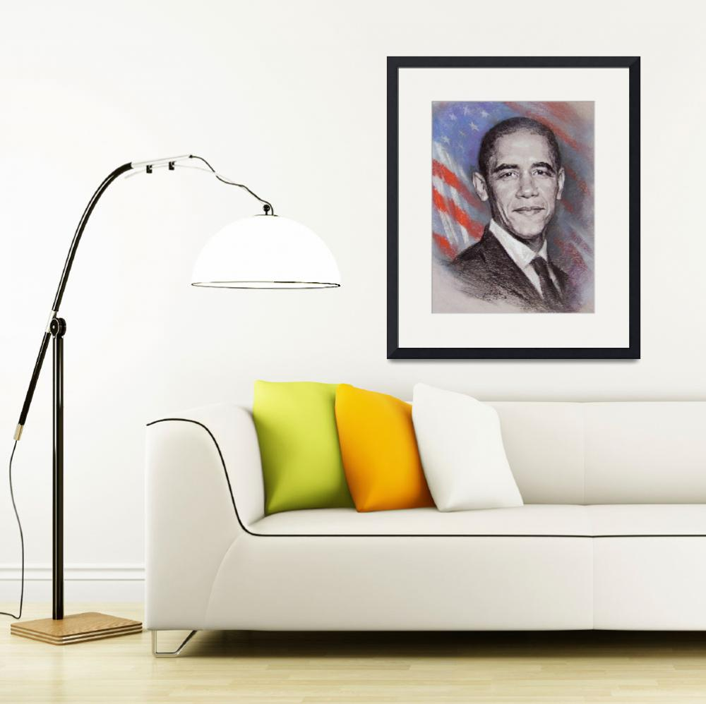 """""""Portrait of Obama&quot  (2008) by yunyi2009"""