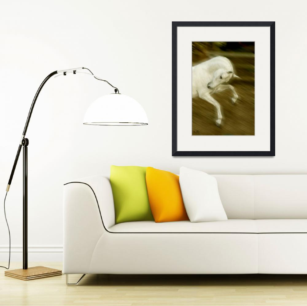 """Dancer Lipizzan stallion&quot  (2006) by LynnR"