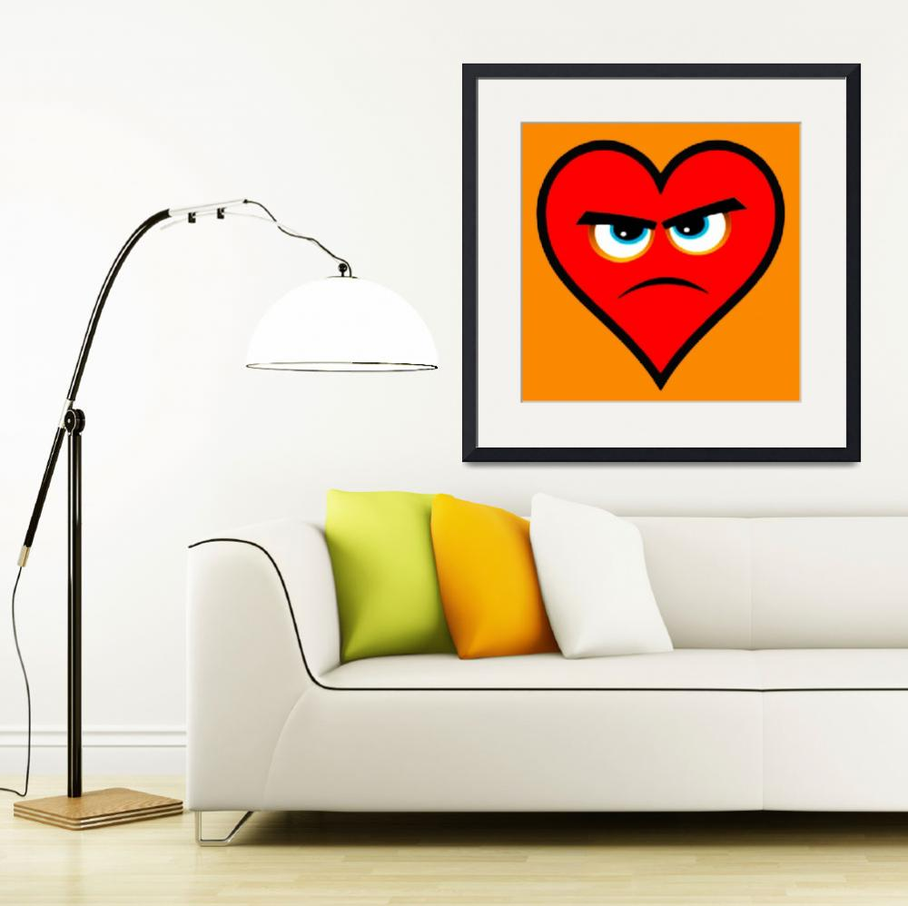 """Heart Series Love Angry Hearts&quot  (2018) by RubinoFineArt"