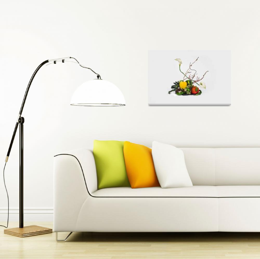 """Ikebana from vegetables""  (2011) by milikArt"