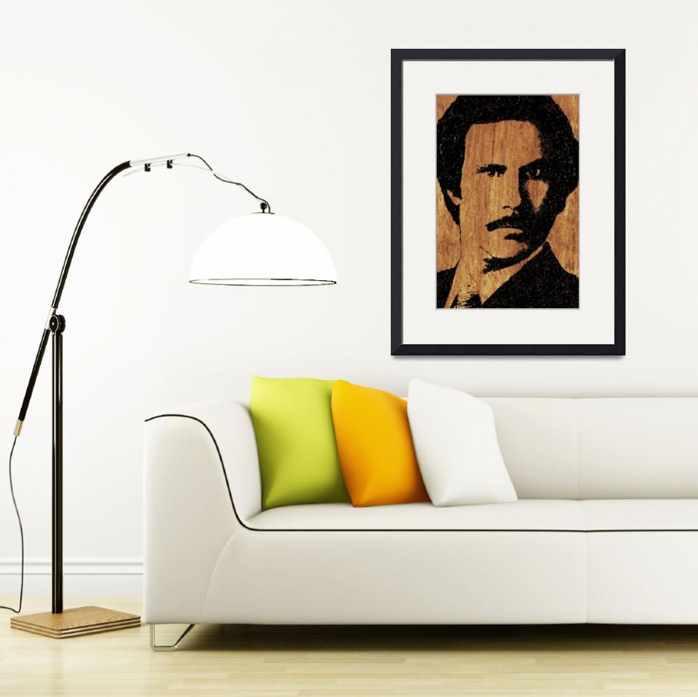 """Will Ferrell Anchorman Ron Burgundy On Simulated S&quot  (2015) by RubinoFineArt"