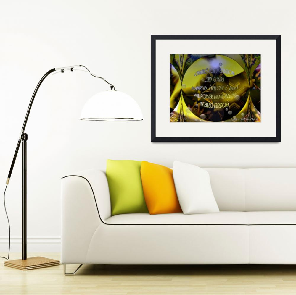 """""""Chakra Colors for Meditation Manipura (Yellow)&quot  (2012) by newdigitalscapes"""