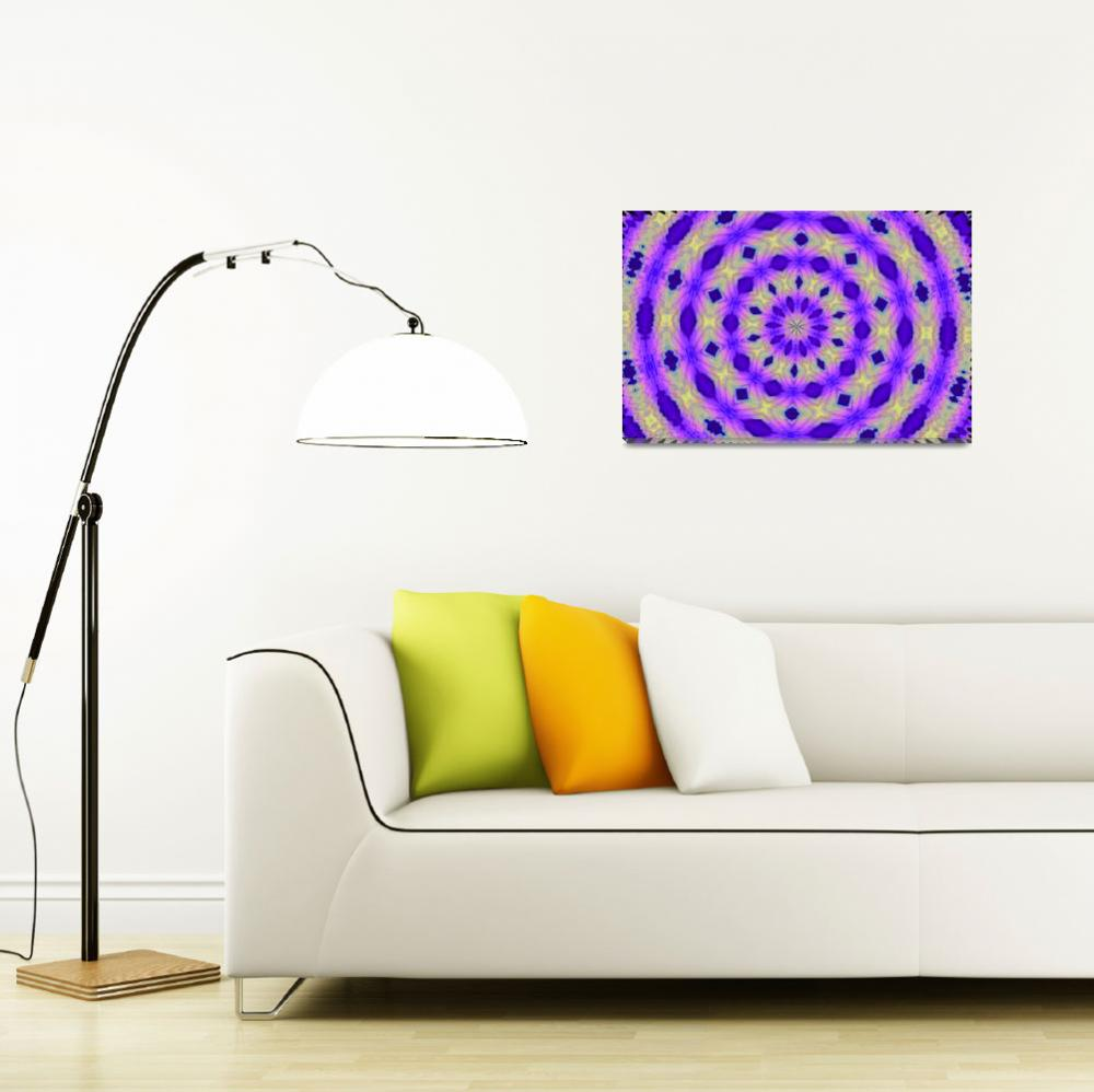 """""""Purple_Yellow_Blue Geometry&quot  (2008) by BuddhabellyDave"""