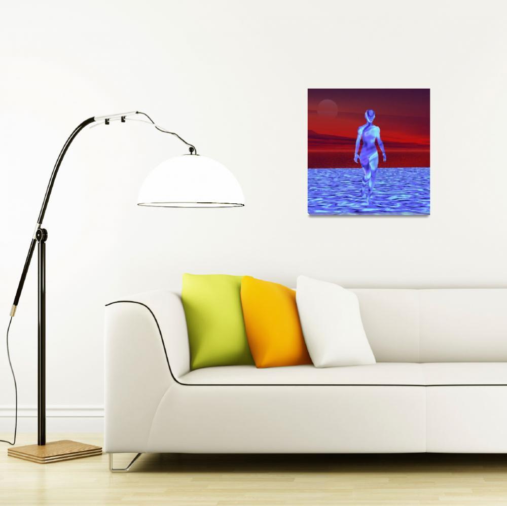 """Walking on water""  (2012) by Icarusismart"