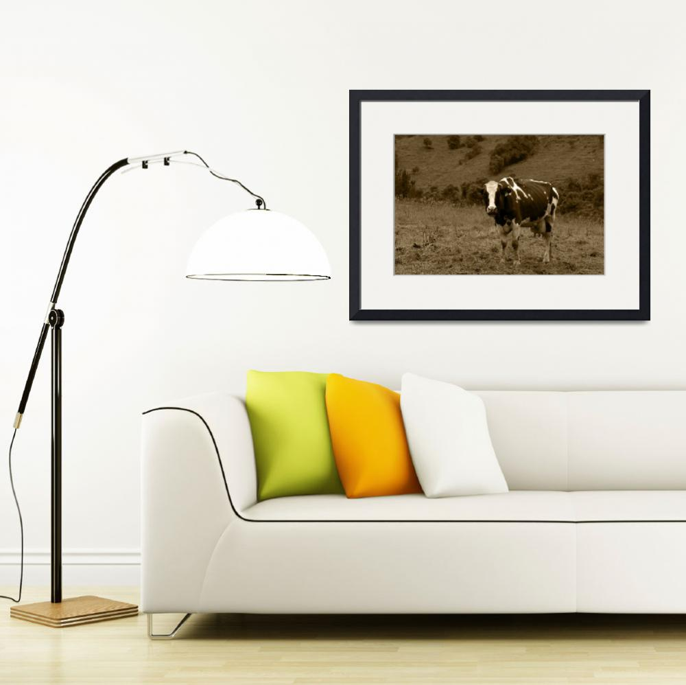 """""""Cow in a Pasture&quot  (2015) by rhamm"""