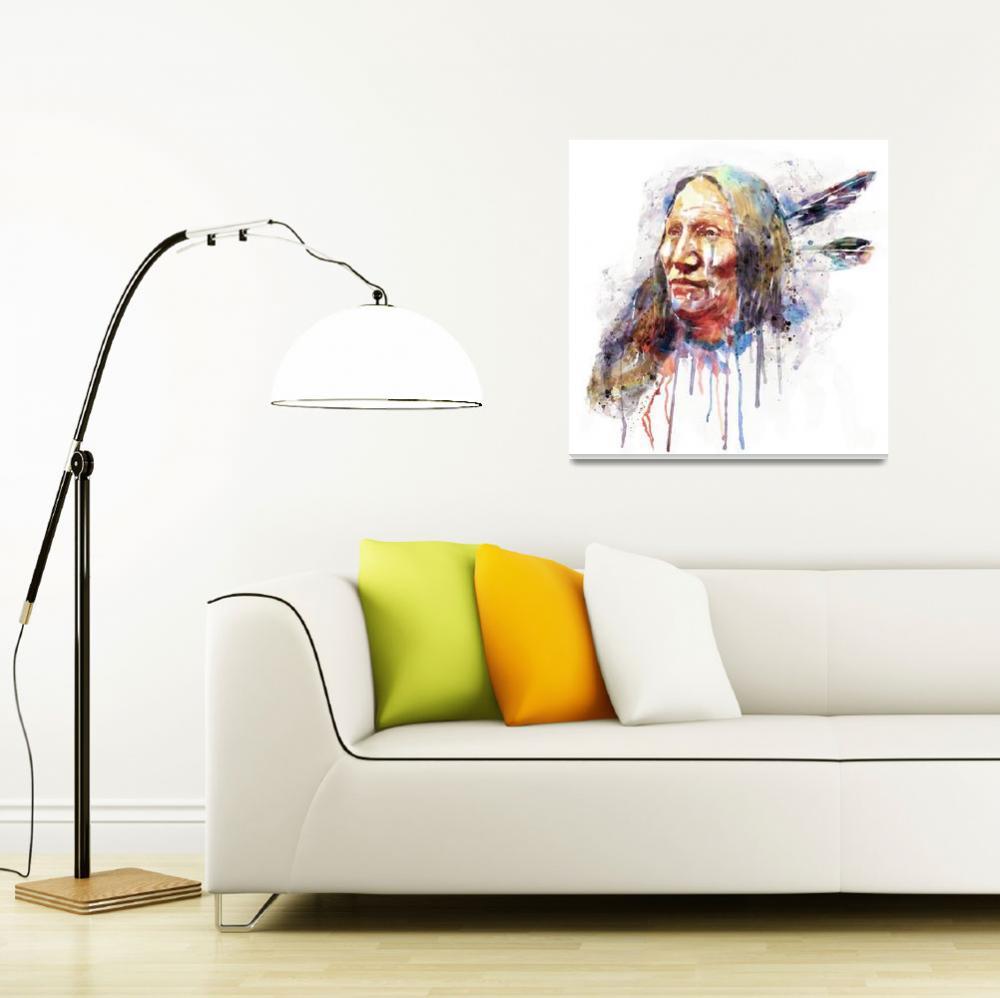 """Native American Portrait""  (2016) by MarianVoicu"