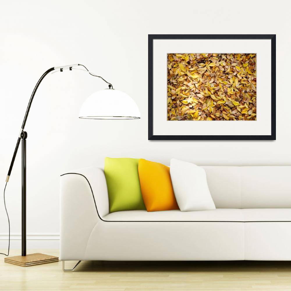 """""""Ocher leaves&quot  (2014) by mfmegevand"""
