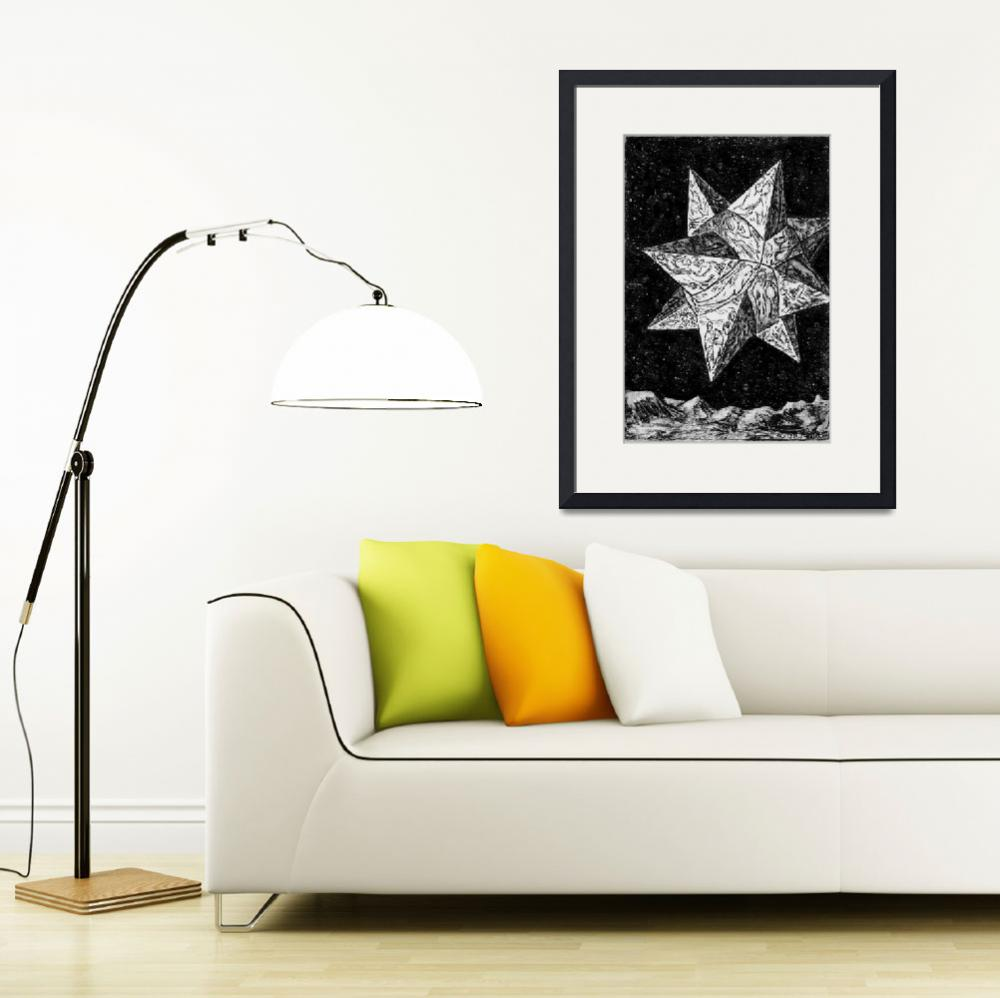 """""""Prophecy Star-etched geometrical, illustrated 3-D&quot  (2002) by Eliora"""