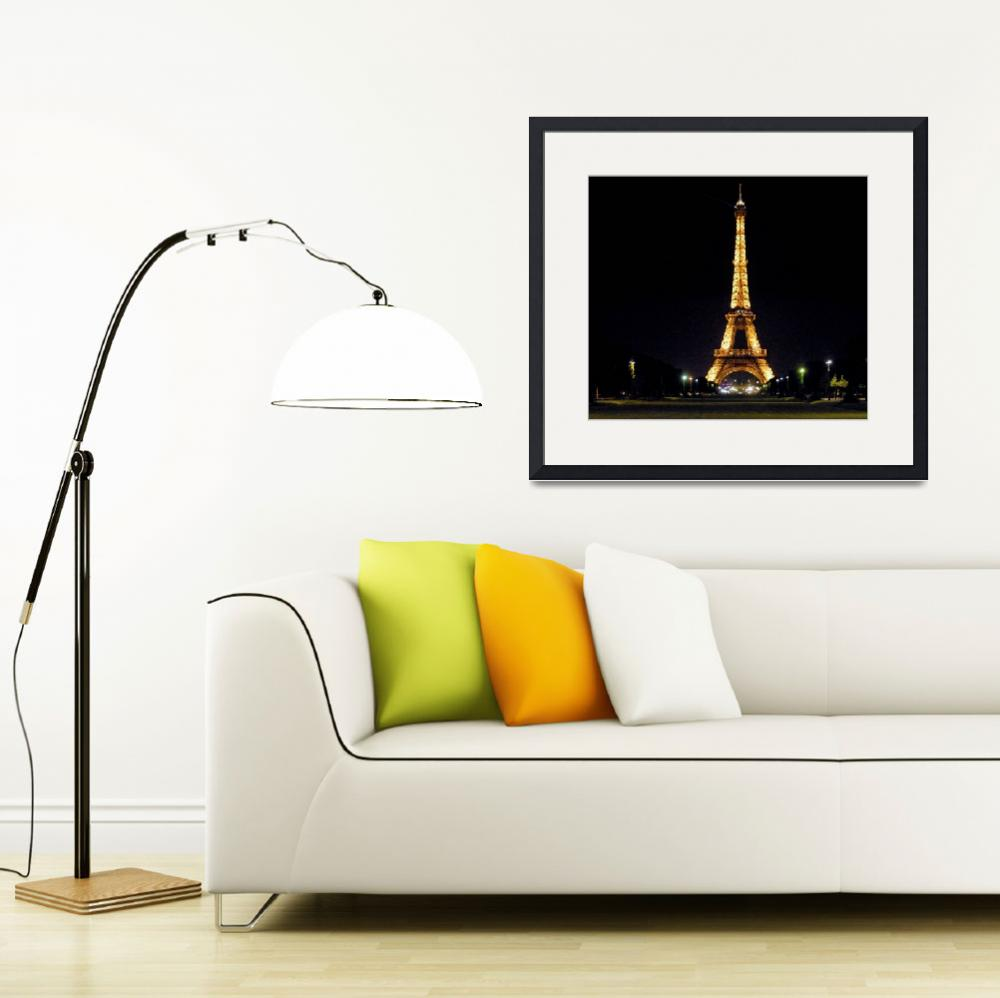 """""""The Eiffel Tower at Night&quot  (2009) by leicafan"""