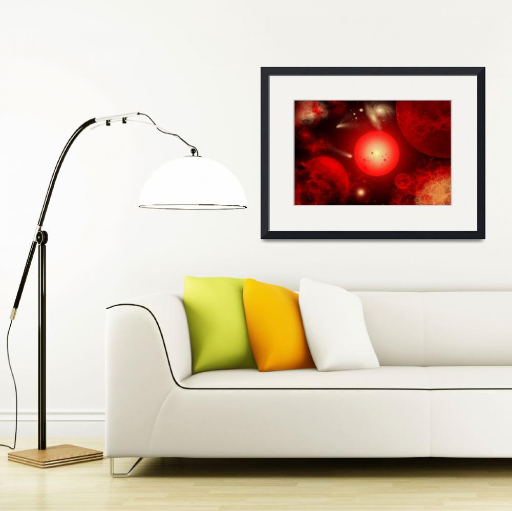"""""""This red giant star is much older and bigger than""""  by stocktrekimages"""