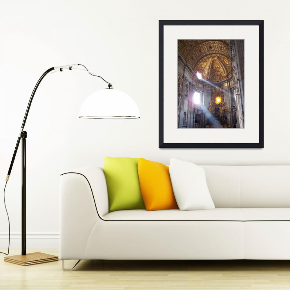 """""""Light in St. Peters Basilica&quot  (2005) by aswendener"""