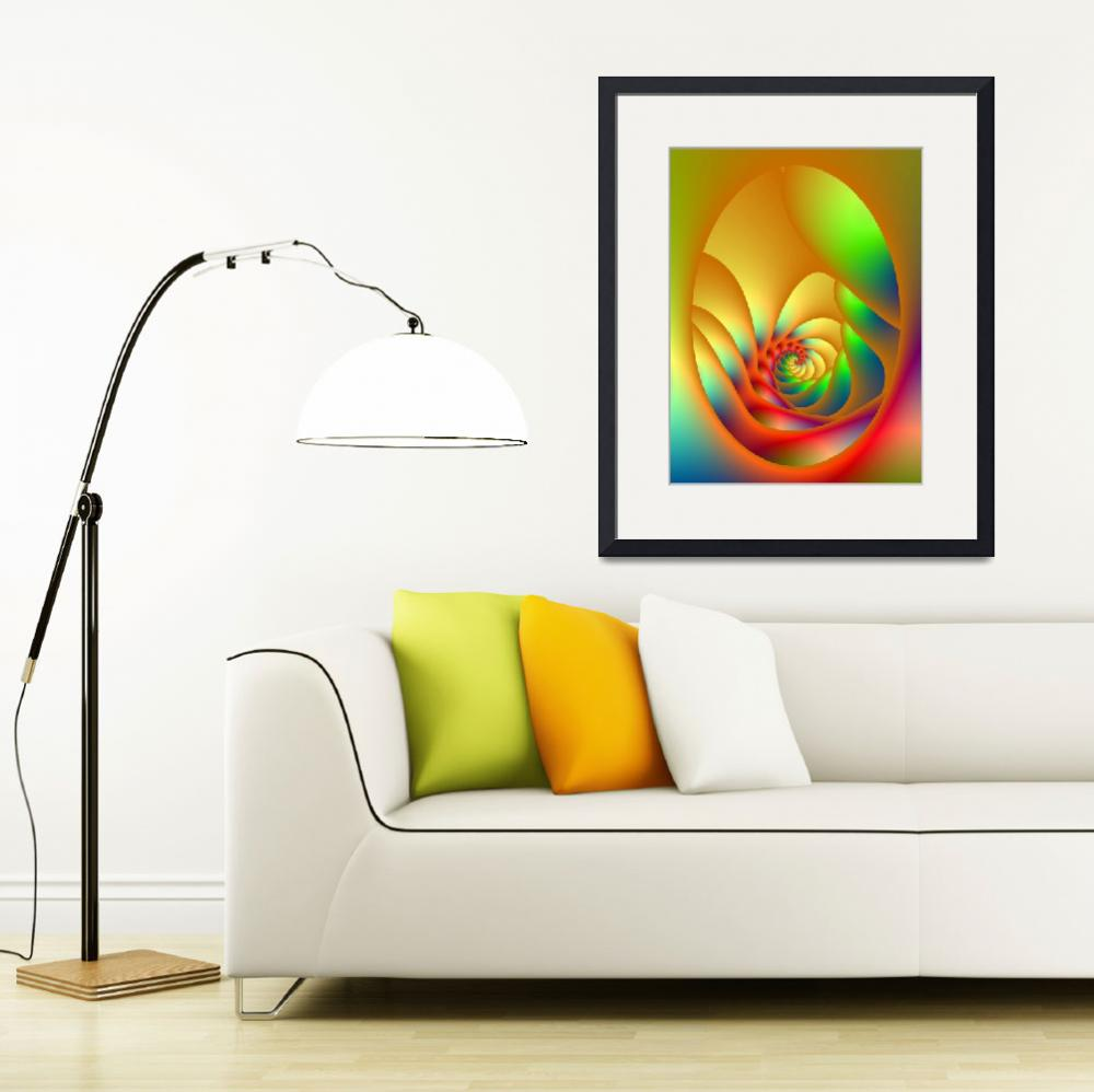"""""""Psychedelic Oval Spiral""""  (2012) by Objowl"""