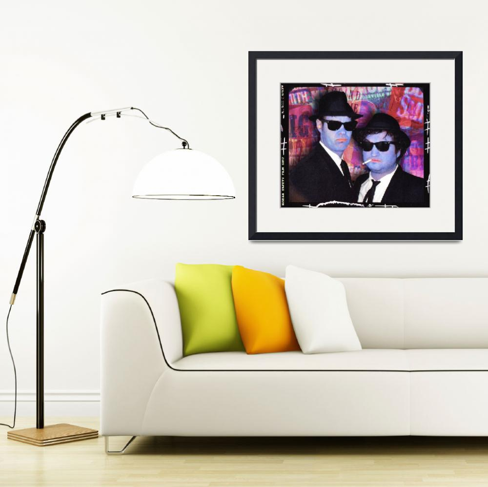 """""""Blues Brothers Red&quot  by RubinoFineArt"""