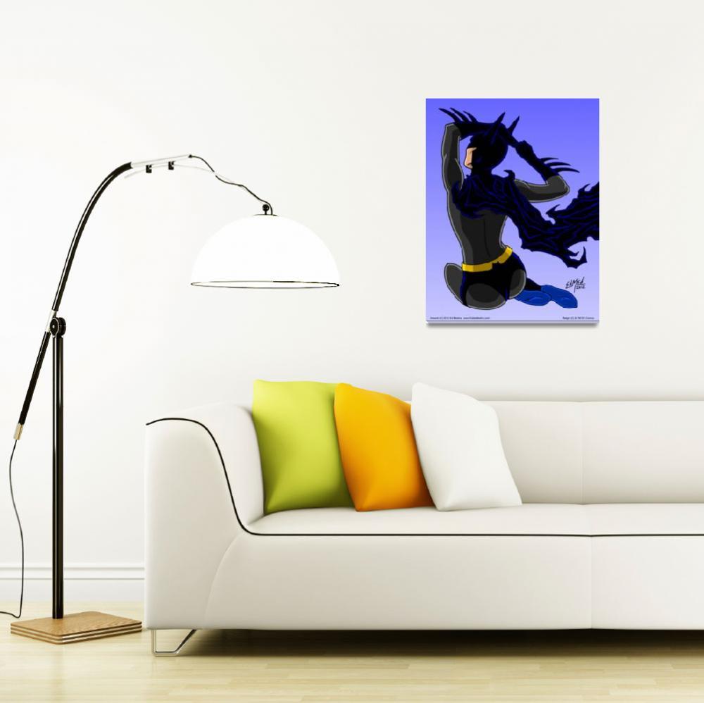 """""""Batgirl The """"Babe"""" Knight&quot  (2012) by EdMedArt"""