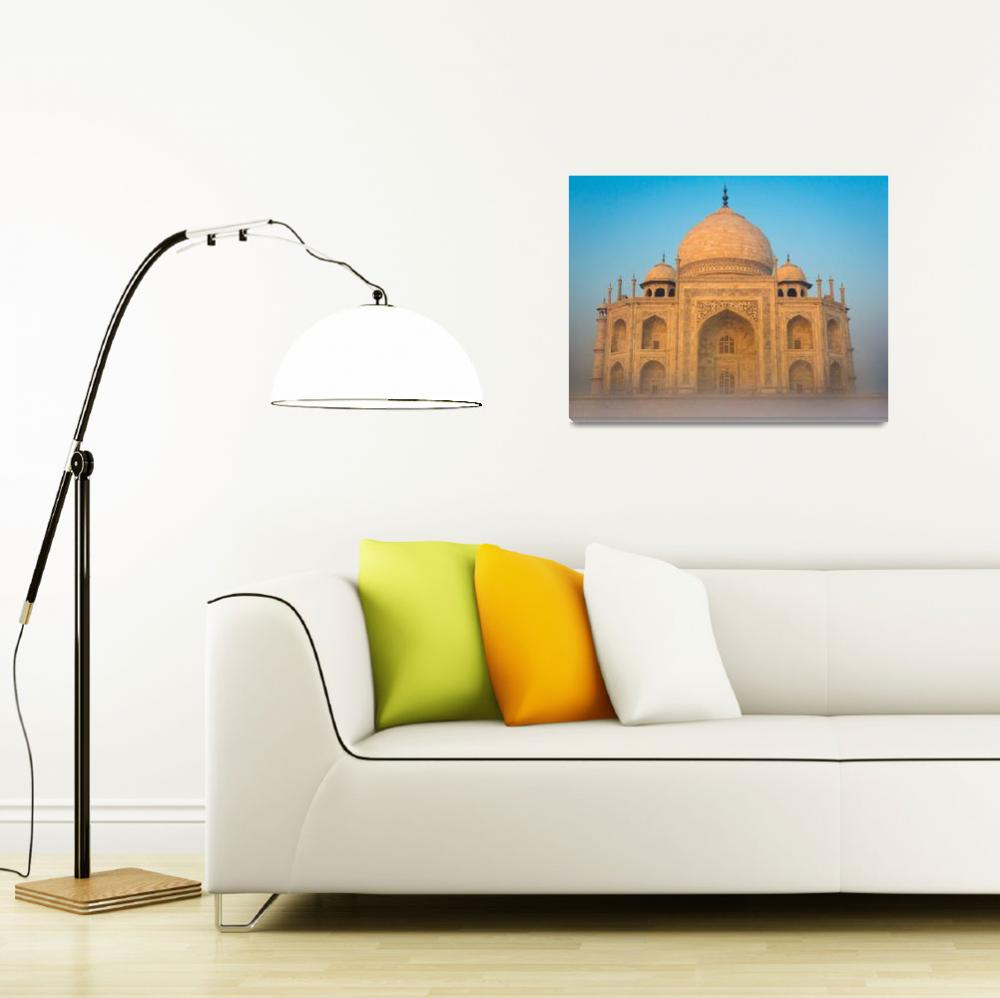 """Glowing Taj Mahal&quot  (2013) by Inge-Johnsson"