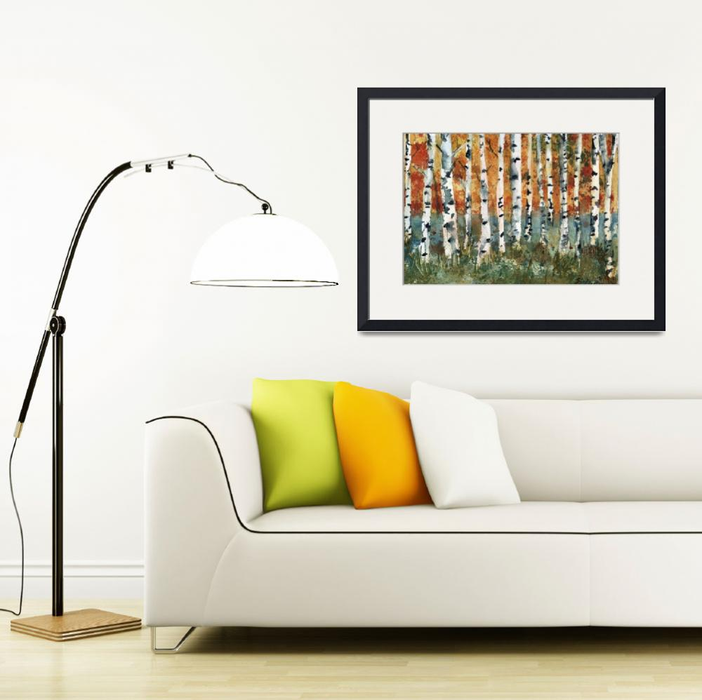 """Tree painting, Birch Trees&quot  by schulmanart"