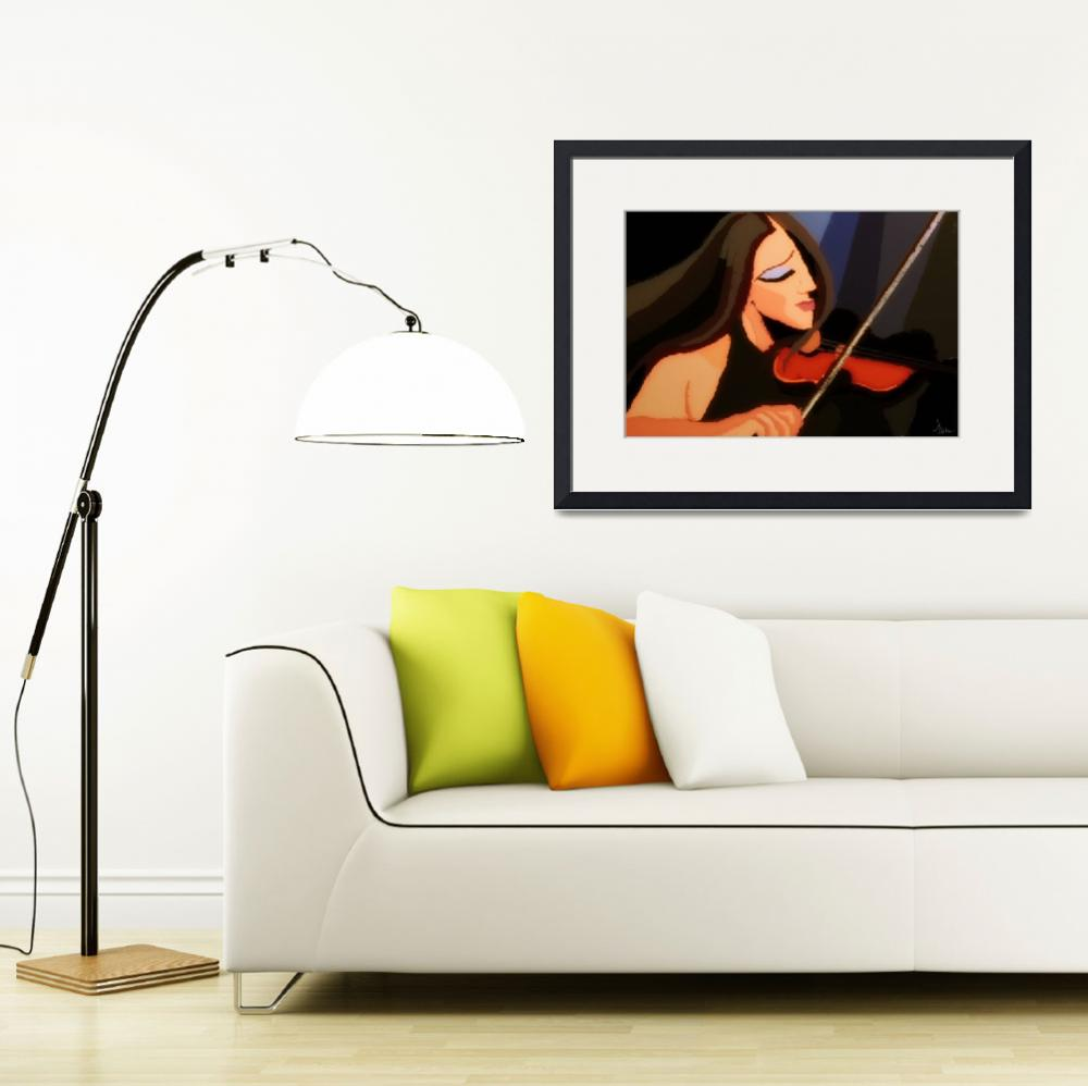 """""""violinist in harmony""""  (2011) by night"""