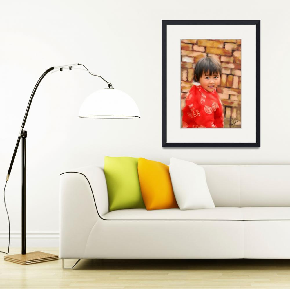 """""""China Child in Red&quot  by marywhitmer"""