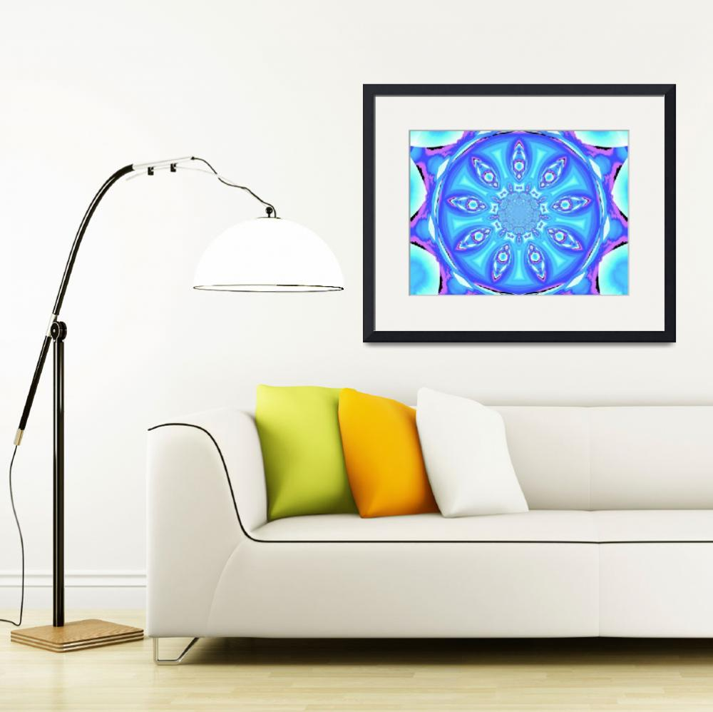 """Blue Lotus Petal Mandala 1""  by Atlantis-Seeker-Art"