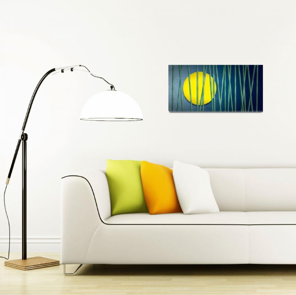 """""""Green Bamboo - Long&quot  (2011) by Art_By_Design_Studio"""