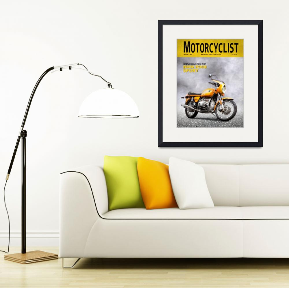 """""""Motorcycle Magazine R90S 1974&quot  (2009) by mark-rogan"""