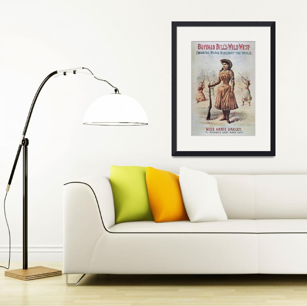 """""""Annie Oakley - Wild West Vintage Poster&quot  by fineartmasters"""