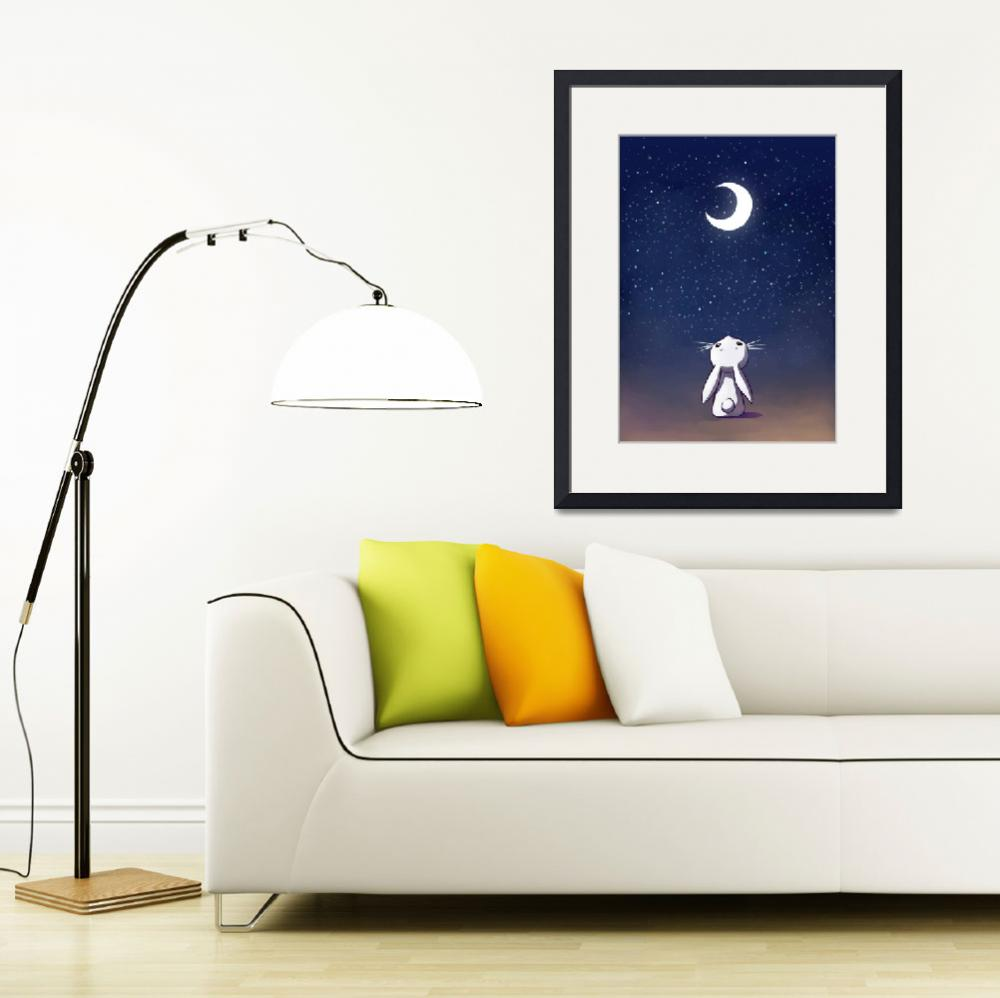 """""""Moon Bunny&quot  (2013) by freeminds"""